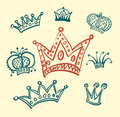 Set of crowns background Royalty Free Stock Images