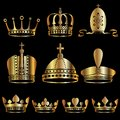 Set of crowns vector illustration Stock Photography