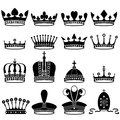 Set of crowns vector illustration Stock Image