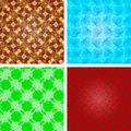 Set of crystal seamless pattern, abstract texture. Royalty Free Stock Photo