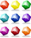 Cube colors Royalty Free Stock Photo