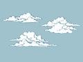 Set of cumulus clouds