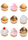 Set of cupcakes Royalty Free Stock Photos