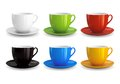 Set of cups high detailed vector illustration colorful on white background Stock Photo