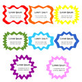 Set Of Curly Frames. Colorful Templates For Visiting Cards, Labels, Fliers, Banners, Badges, Posters, Stickers And Advertising Act