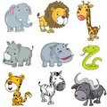 Set of cute cartoon animals Royalty Free Stock Photos