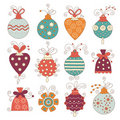 Set of cute chritmas decoration Stock Photo