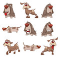 Set of cute dogs for you design. Cartoon Royalty Free Stock Photo