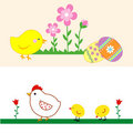 Set of cute Easter Chicks. Stock Photo