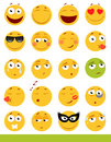 Set of cute Emoticons. Emoji and Smile icons. on white background. vector illustration.