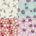 Set of cute seamless backgrounds Royalty Free Stock Photo