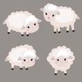 Set of cute sheep