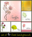 Set of cute spring floral backgrounds Royalty Free Stock Photography