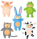 Set of cute suits Stock Image