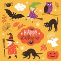 Set Of Cute Vector Halloween E...