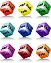 Cube colors faq Royalty Free Stock Photo