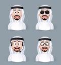 Set Of 3D Dimension Arab Man I...