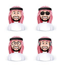 Set of 3D Dimension Saudi Arab Man Royalty Free Stock Photo