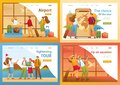 Set 2D Flat concepts, people on vacation, on excursions, on vacation. For Landing page concepts and web design