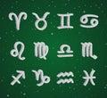 Set of 3D zodiac symbols Royalty Free Stock Photo