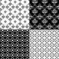 Set of Damask seamless floral pattern Royalty Free Stock Photos