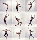 Set of dancing men.  Ballet dancers collection Royalty Free Stock Photo