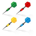 Set of darts different color Stock Photography