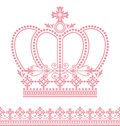 Set decoration crown lace Stock Photos