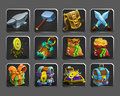 Set of decoration icons for games. Royalty Free Stock Photo