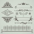 Set of decorative calligraphic elements Stock Images