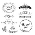 Set of decorative design elements, embellishments, frames, borders. Royalty Free Stock Photo