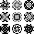 Set of decorative elements Stock Photos