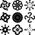 Set of decorative elements Royalty Free Stock Photo