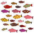 Set of decorative fish Stock Photography