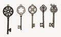 Set of decorative keys