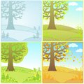 Set Of Decorative Landscapes S...
