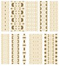 Set of decorative oriental ribbons Royalty Free Stock Photo