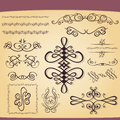 Set of decorative ornament elements Royalty Free Stock Image