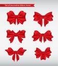 Set of decorative ribbon bows  illustration Stock Photo