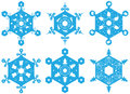 Set of decorative snowflakes Stock Image