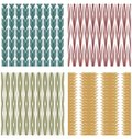 Set of decorative tiles with strip ornamental patterns Royalty Free Stock Photo
