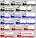 Set of delivery trucks Royalty Free Stock Photography