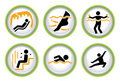 Set des Wellness&Spa Piktogramms knöpft II Stockbilder