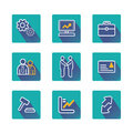 Set design concept icons and apps. Icons for web d Royalty Free Stock Photo