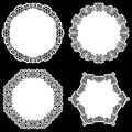 Set of design elements, lace round paper doily, doily to decorate the cake