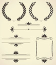 Set of design elements and page decoration vector various for Royalty Free Stock Image
