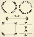 Set of design elements and page decoration vector various for Royalty Free Stock Photography