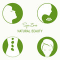 Set of design elements  for spa salon. Royalty Free Stock Photo