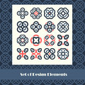 Set of design elements. Vector illustration. Abstract shape temp Royalty Free Stock Photo
