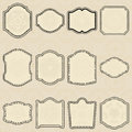 Set of design elements-vintage labels. Stock Image